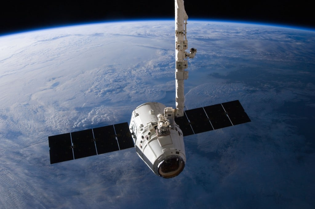 SpaceX_Dragon_C2+_just_prior_to_Canadarm2_release_(ISS031-E-079326)